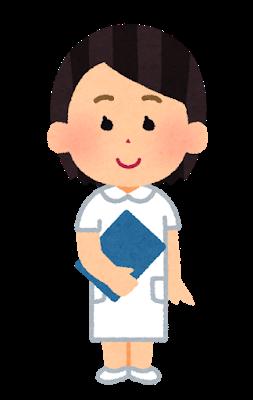 微笑む女性看護師全身